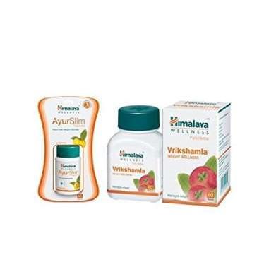 Himalaya Weight Management Combo Pack Ayurslim 60 Capsules Vrikshamla 60 Tablets