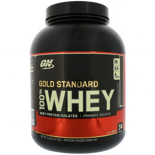 OPTIMUM NUTRITION Gold Standard 100% Whey Double Rich Chocolate 5 lbs(2 2kg)