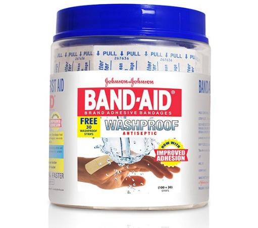 Johnson & Johnson Band Aid Wash Proof Long 100's