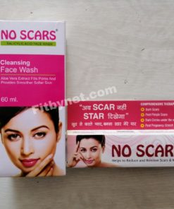 No scars cream+face wash combo pack
