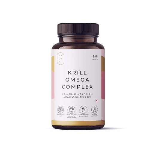 Palak Notes: Antarctica Krill Oil I 1 mg Antioxidant Astaxanthin I 2.5X more bioavailable than Fish Oil I Joints, Heart & Brain: 60 Softgels