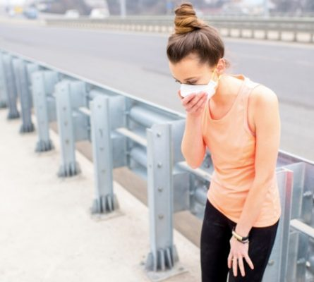 How safe is it to exercise outside when air quality is poor?