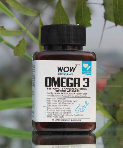 WOW Omega 3 1000mg capsules for healthy heart & joints